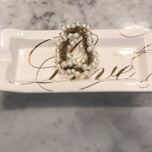 Jcrew white beaded bracelet